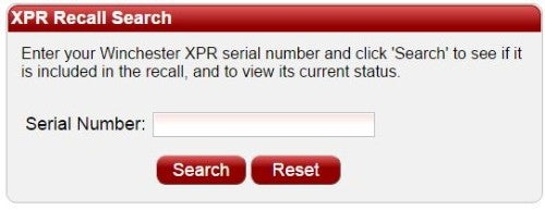 Click for XPR recall serial number status.