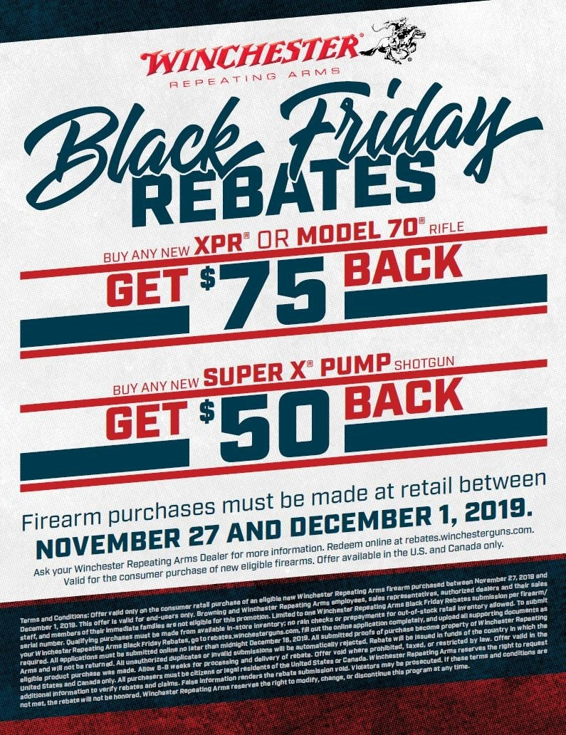 Winchester Black Friday Rebate Offer 2019 - Image